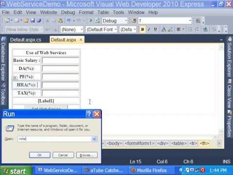 How to Use Web Services in ASP NET in 20 minutes