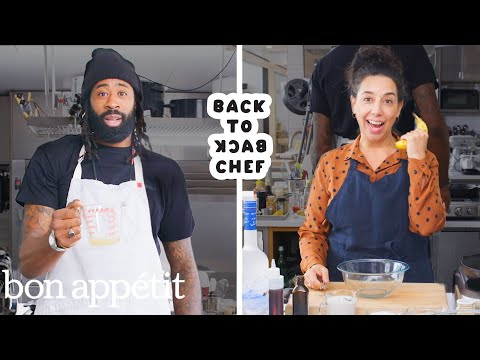 DeAndre Jordan Tries to Keep Up with a Professional Chef | Back-to-Back Chef | Bon Apptit