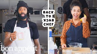 DeAndre Jordan Tries to Keep Up with a Professional Chef | Back-to-Back Chef | Bon Appétit