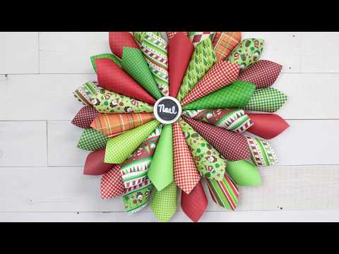 Craft a Christmas Paper Cone Wreath