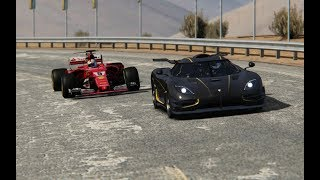Battle F1 2017 Ferrari vs Supercars at Black Cat Country