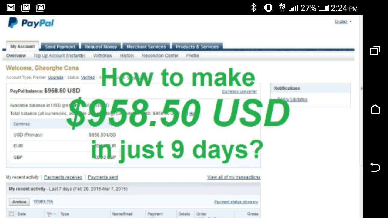 How To Win Paypal Money
