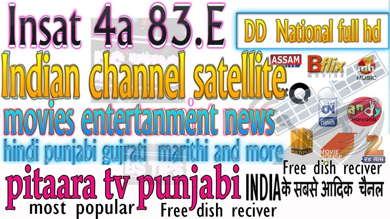 Insat 4A 83 E dish setting and channel list