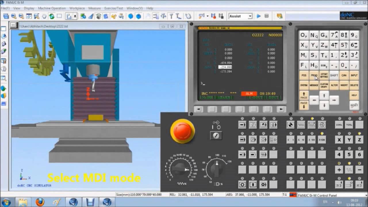 Cadem Donc Cnc Machine Simulator For Milling Youtube