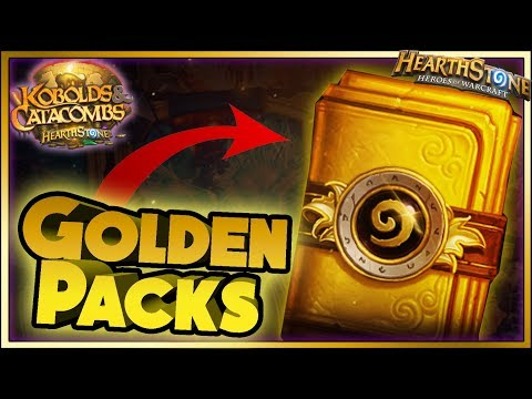 Thumbnail: Hearthstone - GOLDEN PACKS WTF Moments - Kobolds and Catacombs Funny Rng Moments