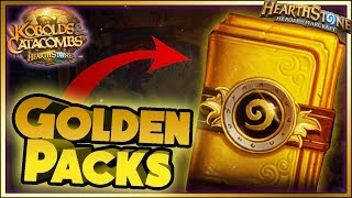 Hearthstone - GOLDEN PACKS WTF Moments - Kobolds and Catacombs Funny Rng Moments