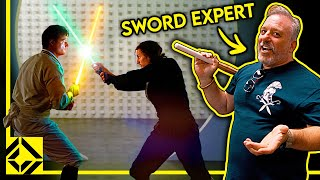 We Asked a Sw๐rd Expert to Make a Realistic Lightsaber Fight