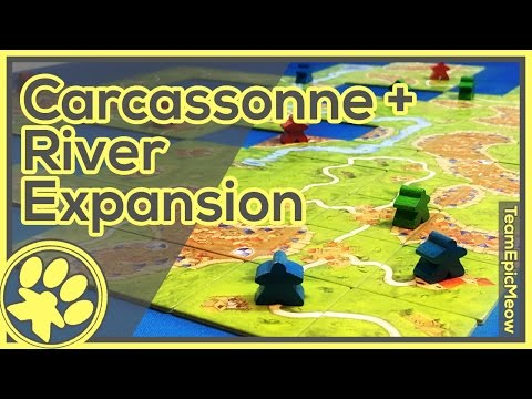 Carcassonne + River Expansion Game Play [3Player]