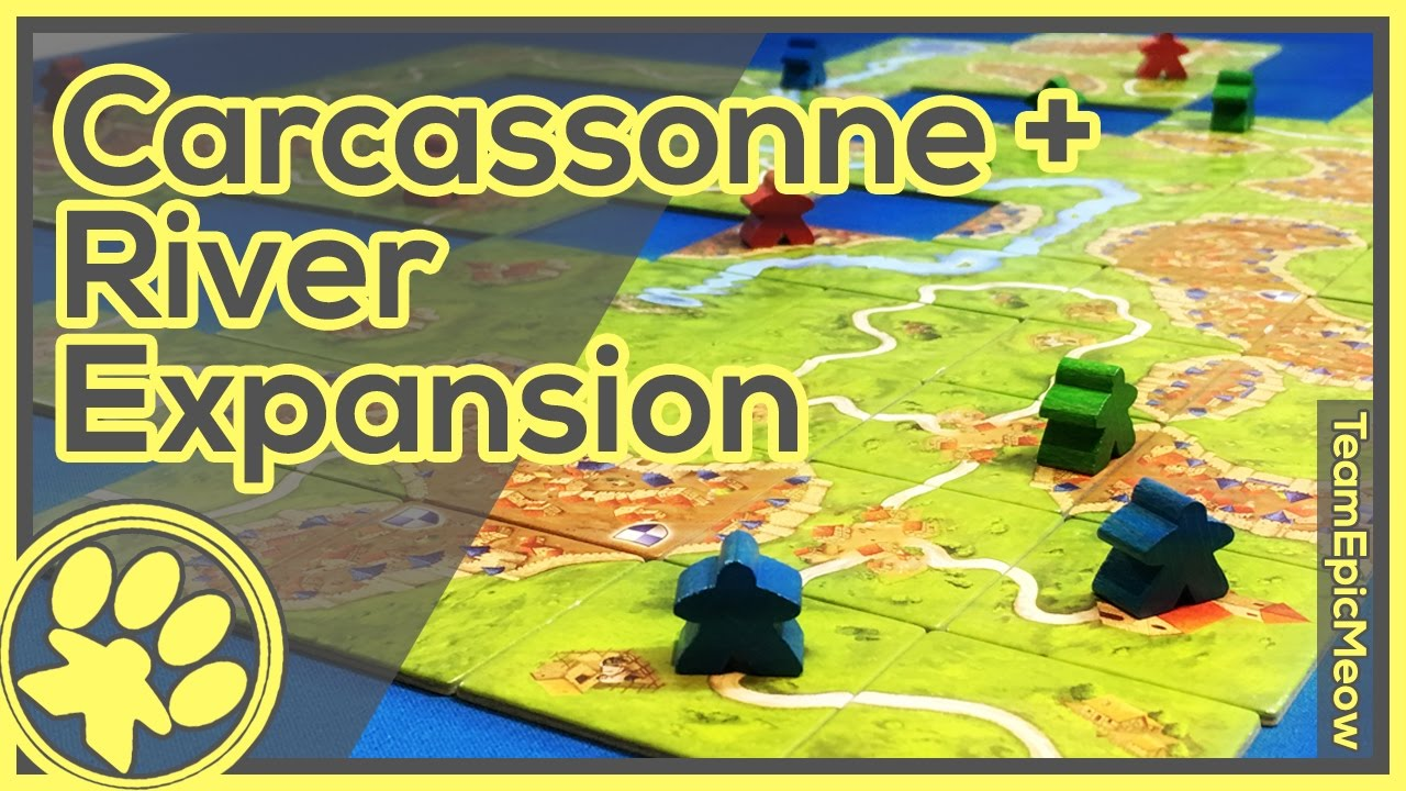 Carcassonne River Expansion Game Play 3player Youtube