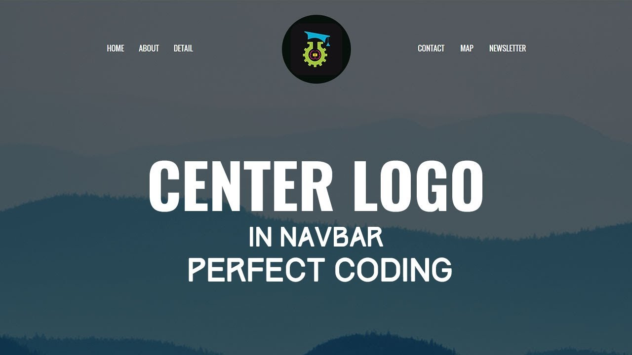 Center Logo In Navbar Perfect Coding Most People Do It Wrong Way