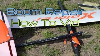 Fuselage tailboom repair on an Xplorer F3J model