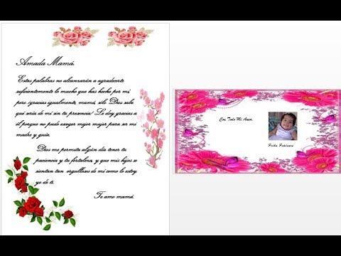 Carta De Amor En Word Con Fotos Y Detalles Para Regalar Youtube