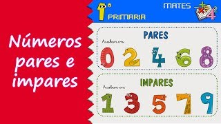 Matemáticas. 1º Primaria. Tema 9: Números pares e impares