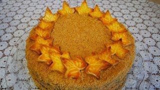 торт Медовик в осеннем стиле Быстро и вкусно Рецепт песочного печенья