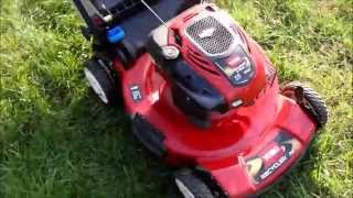 Toro Personal Pace Lawn Mower Model 20333 Spin Stop  - Final Look & Start -  Nov. 20, 2015