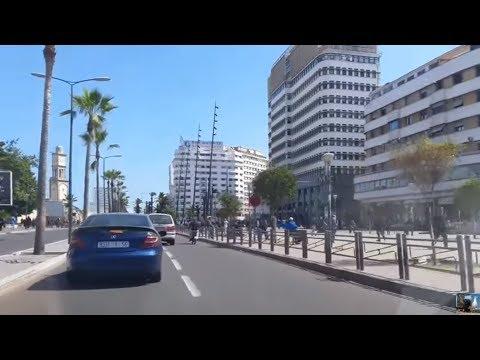 CASABLANCA - Aéroport Mohammed V vers Casablanca et Cercle Naval le 03-04-2016