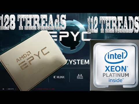 Cinebench R15 : AMD EPYC 7601 VS INTEL Platinum 8180 In Dual CPU CONFIG !!!
