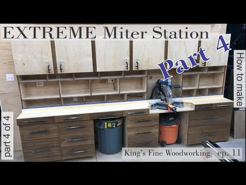 14 - How to build the Extreme Miter Station Part 4 details and lacquer finish