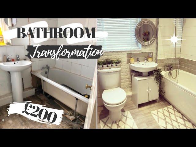 Diy Bathroom Makeover On A Budget 200 Bathroom Transformation Before After Uk Youtube