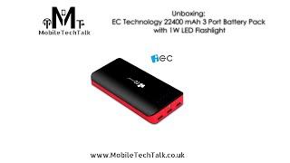 Unboxing - EC Technology Portable 2nd Gen Deluxe 22400mAh 3 USB Power Bank