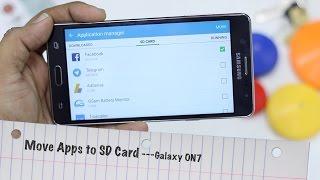 Samsung Galaxy On7 : het Verplaatsen van Apps naar SD-Kaart