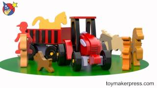 Wood Toy Plans - Quick & Easy Wood Toy Tractor Farm Set