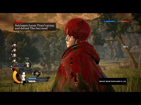 Attack on Titan Wings of Freedom Inviolable Area Levi 99+Perfected Gear Gameplay