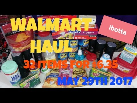 Walmart Haul $6.35 for 32 Items May 29th 2017