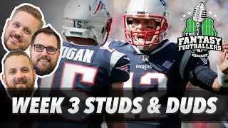 Fantasy Football 2017 - Week 3 Studs & Duds, Rising Stars, Running Back Re-Draft - Ep. #443