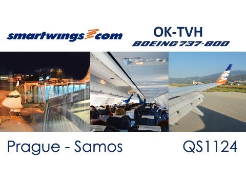 Flight from Prague to Samos Island | Travel Service (SmartWings) Boeing 737-800 OK-TVH (Trip Report)