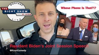 Biden's Joint Session Address Interrupted by Phone Call (comedian K-von laughs)
