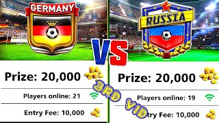 FOOTBALL STRIKE GERMANY V S RUSSIA USING A SPIDER LEVEL 3 MC GAMING