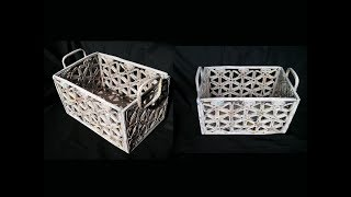 How To Make Basket From Newspaper / DIY Basket Making / Best Out Of Waste