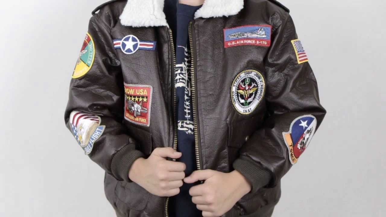 Youth US Navy Top Gun G-1 Bomber Jacket - YouTube