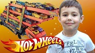 Хот вилс Hot Wheels машинки и Автовоз! Огромный трейлер с машинками для детей!!!