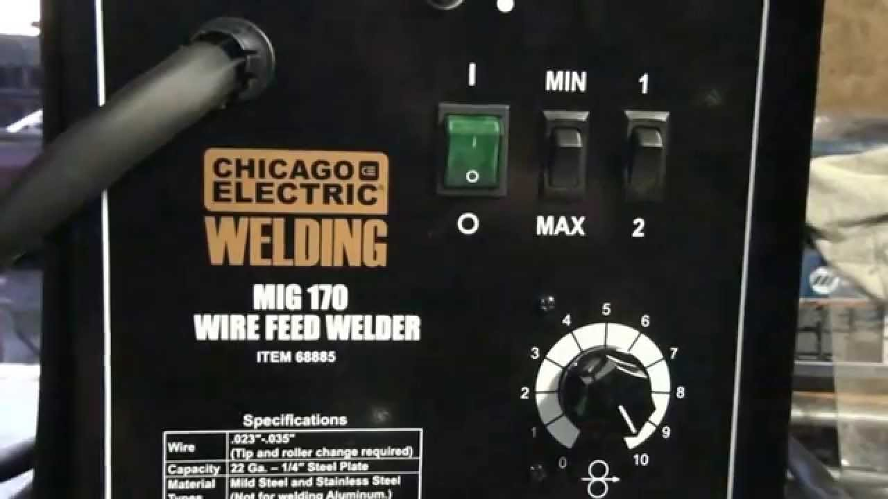 Harbor Freight Mig 170 Wirefeed Welder Overview Youtube Image 50 Amp Plug Wiring Download