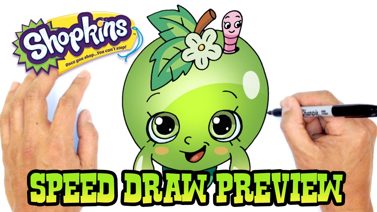 Apple Blossom | Shopkins Drawing Lesson Preview - YouTube