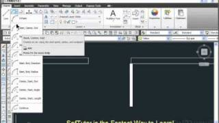 Autocad 2d - Arc By Start Center End