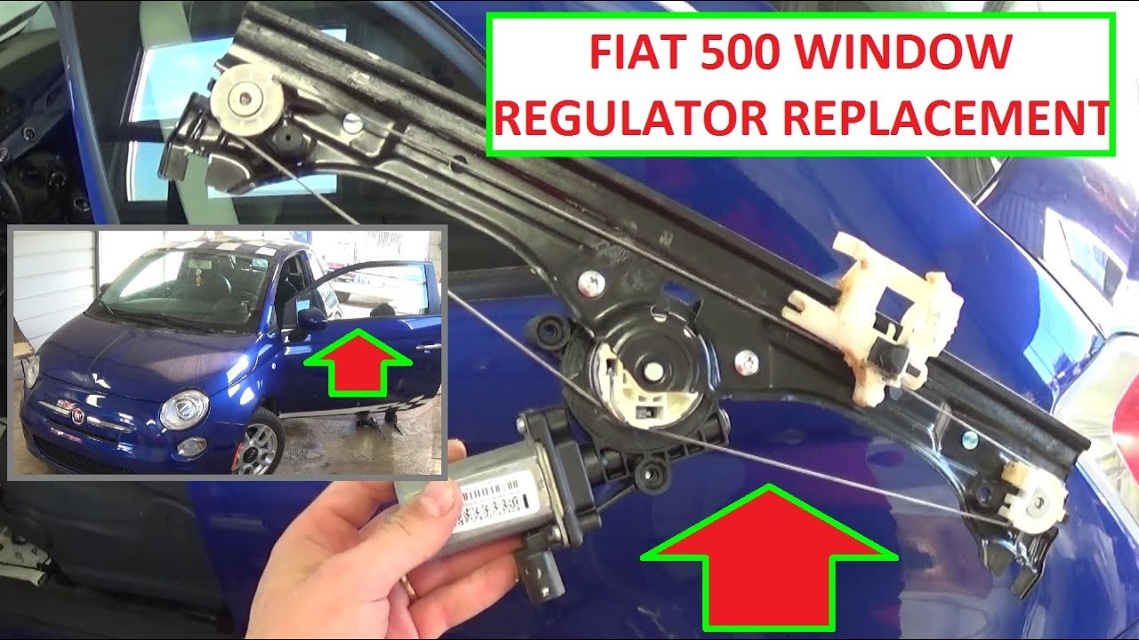 Window Regulator Removal And Replacement On Fiat 500 2008