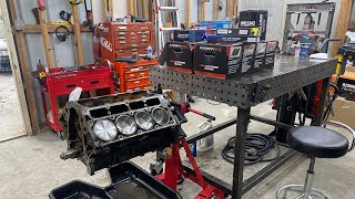 homepage tile video photo for Turbo LS street truck 1000+hp engine build in the garage.