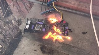 ASUS ARES II BURNS - Горит ASUS ARES II