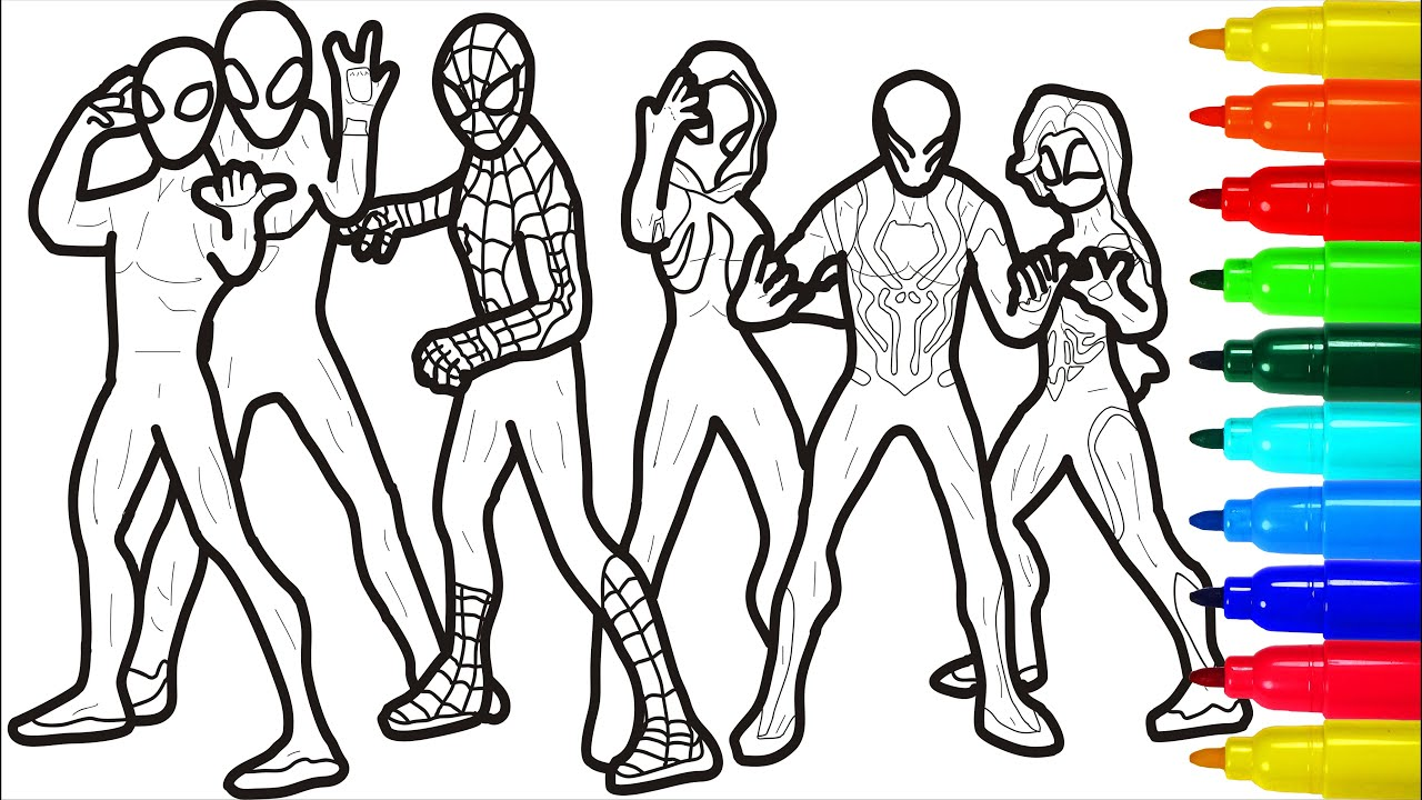 Spiderman Zombie Coloring Pages Spiderman Zombie Coloring Pages With Colored Markers Youtube