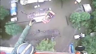 Louisiana Flood Rooftop Rescue