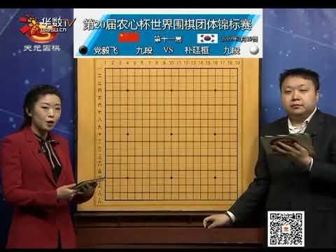 第20届农心杯世界围棋团体竞标赛 朴廷桓Vs 党毅飞