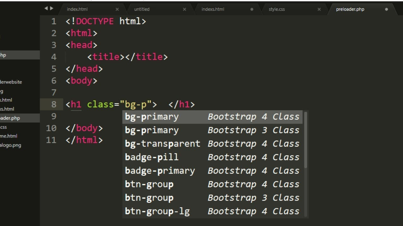 Install Bootstrap 3 and Bootstrap 4 Autocomplete Package in Sublime Text 3