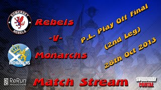 Somerset 'Cases Rebels' vs Edinburgh 'Monarchs' : Premier League Play Off Final 2nd Leg : 28/10/2013