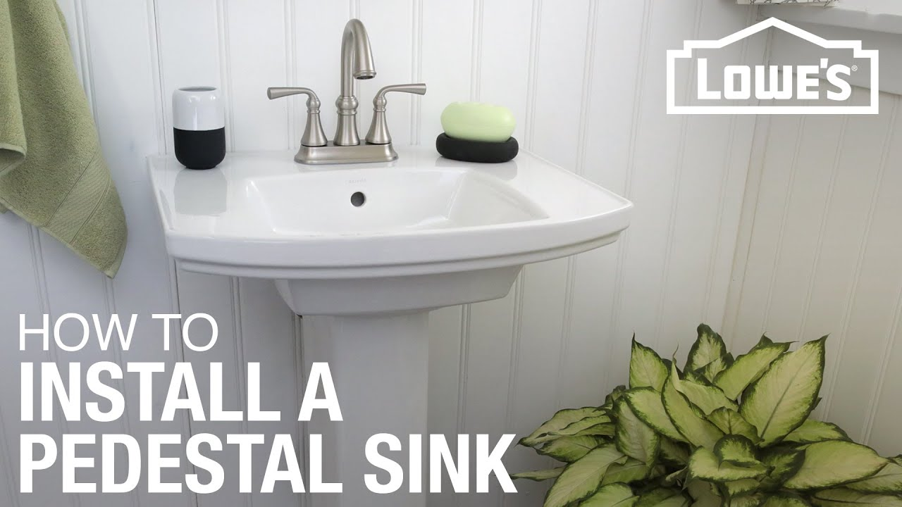 How to Install a Pedestal Sink - YouTube
