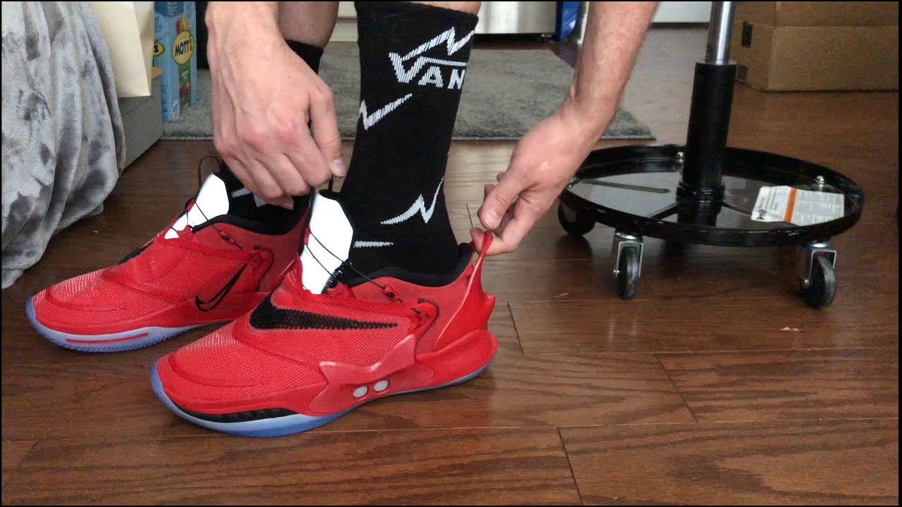 Nike Adapt Bb 2 0 Chicago On Foot How They Fit Gamer Exclusive Youtube