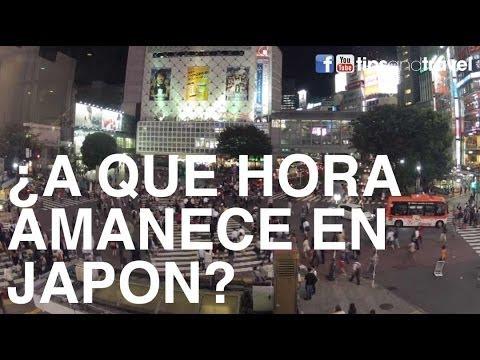 ¿A qué hora amanece en Japón?