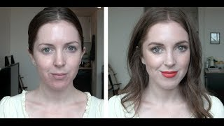 FACE: Bobbi Brown Skin Foundation in 00 - Alabaster and NARS Lipstick in Heatwave   chelsea wears